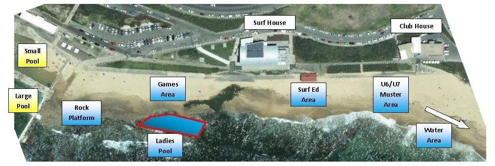 Beach setup plan U6:U7