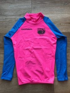 Pink Blue Rash Shirt Long Sleeve