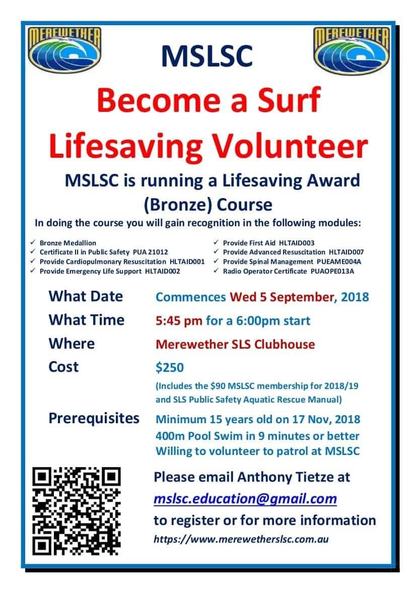 BECOME A SURF LIFESAVING VOLUNTEER -